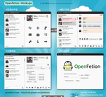 Openfetion Mockups by rikulu