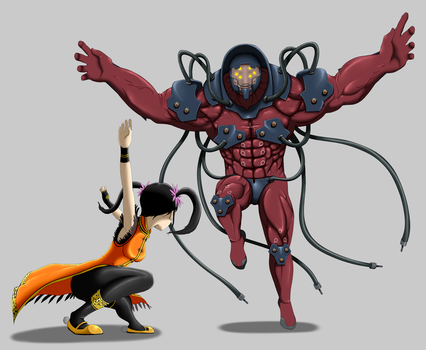 Xiaoyu vs Gigas by Janji009