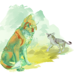 redpaw and thornpaw by SkrzynkaPandory