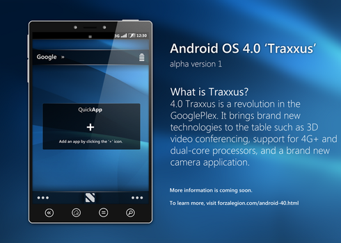 Android OS 4.0 Traxxus by jakeroot