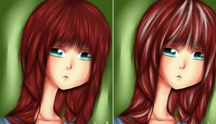 First try to color a little bit more realistic by KazuNana