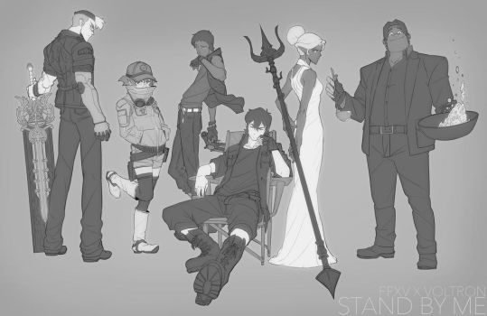 Voltron x FFXV Crossover Group Photo by SteveAhn