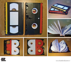 VHS-tape-books by Marenne
