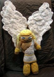 Male Angel Amigurumi Doll by voxmortuum