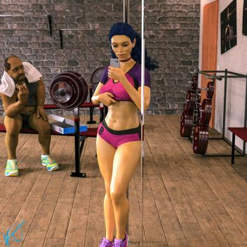 Marge Gym Selfie by THE-SEXY-BEAST