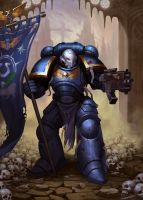 Primaris Space Marine by AnarchicFox