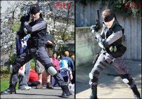 Evolution of a Cosplayer: Solid Snake 2012-2013 by mustang-revolver