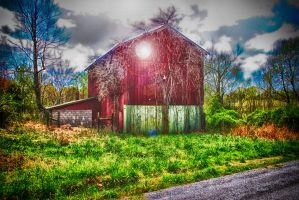 Red Barn by rmh7069