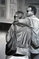 It's better together, 2012, 53-80cm, oil on canvas by oanaunciuleanu