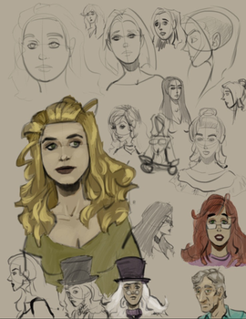 Rough Sketches 02-05-2018 by theheroofthepeople