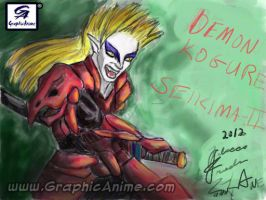 Demon Kogure: Seikima-II Nintendo Colors by GraphicAnime