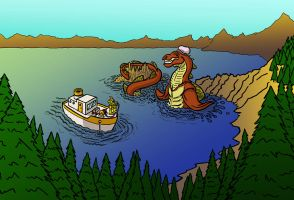 Hunting Sasquatch CRATER LAKE MONSTER by IADM