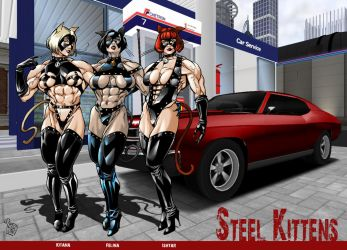 The Steel Kittens colors by hardbodies