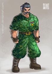 Character commision: army guy by Wenart