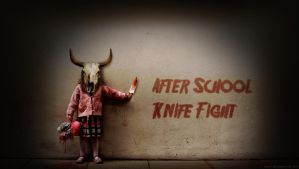 After school knife fight by Mario-Kiev