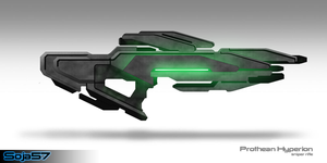Prothean Hyperion Rifle by cheezanator48