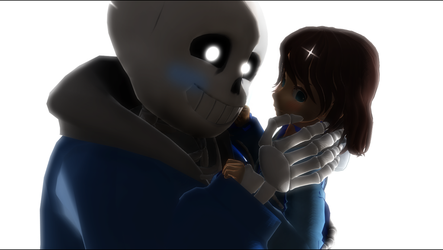 MMD Sans x Frisk by rby121174