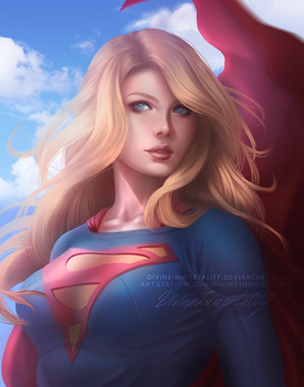 Supergirl Commission 1105 by DivineImmortality