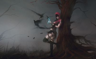 Witch of the Wilds by JJcanvas