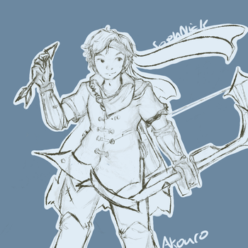Twitch community: Akuro sketch by thesaphiremoon