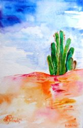 ' Colorful Cactus' by sabagirl