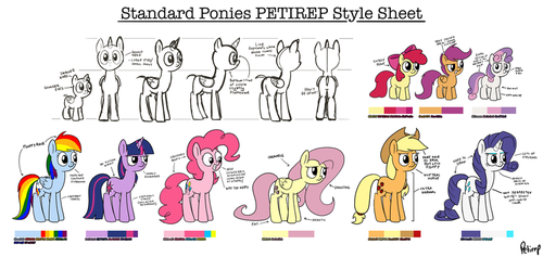 Standard Ponies Petirep Style Sheet by petirep