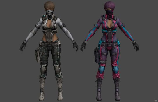 'Ghost in the Shell: First Assault' Maven Camo XPS by lezisell