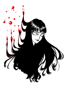 Tomie - Droplets by SketchMeNot-Art