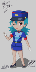 Chibi Officer Jenny redraw By Ann47 by ann47