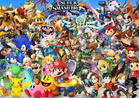 Super Smash Bros WII U 3DS Characters by SuperSaiyanCrash