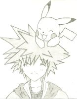 Sora and Pikachu by ghosthippie