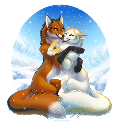 Foxes by OmegaLioness