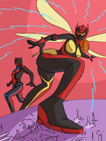 Giant Mary Jane and Peter: One Small Step by MisterBigRed