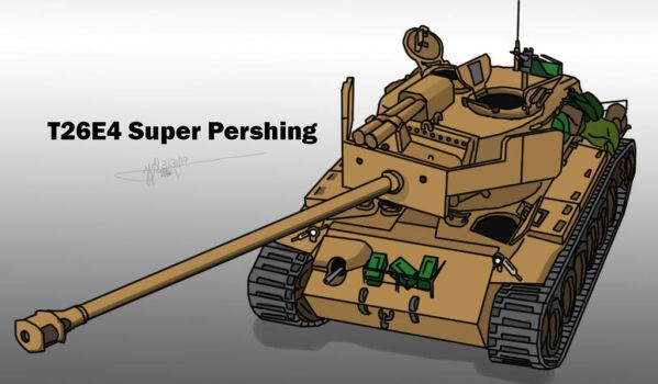 T26E4 Super Pershing by LoneWolf071