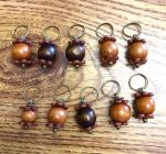 Natural Wood Charms by mintdawn