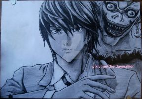 Ryuk and Light by Der-Daywalker