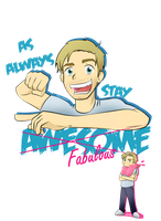 Stay Awesome ft Pewdiepie by aileenarip