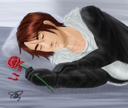 Squall Sleeping (redraw) by sam241