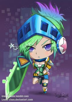 Chibi Arcade Riven (League of Legends) by lzumi-chan