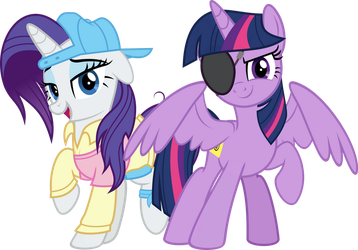 MLP Vector - Plainity and Eyepatch by jhayarr23