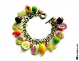 Bracelet 'Tropical Fruit' 1 by allim-lip