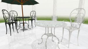 MMD Fancy Garden table download set by Hack-Girl