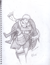 I Love My New Scarf Hinata! (sketch) by xxxMR-LEGOxxx