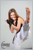 Karate girl by Edward-Photography