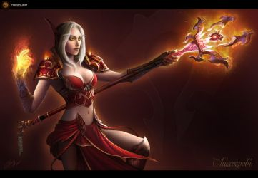 Blood Elf - Mage by TamplierPainter