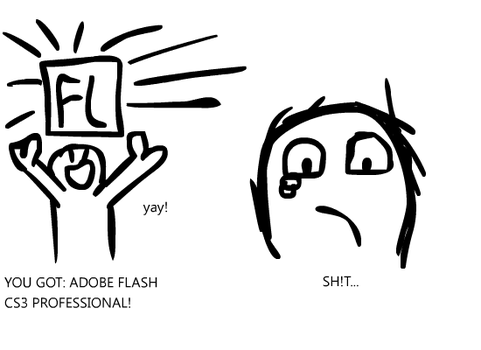 GUESS WO HAS ADOBE FLASH PROFESIONAL CS3 by DrRevolutionary