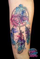 Watercolor Dreamcatcher by AshiMonster