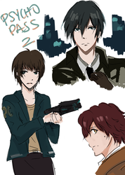 Psycho Pass 2 doodles by AlliandoAlice
