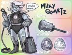 Milky Quartz - Gem Application by X-RedLemon-X