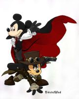 Os VanHelsing vs Count Mickey by twisted-wind